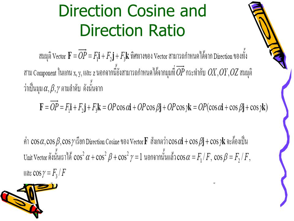 Direction Cosine and Direction Ratio