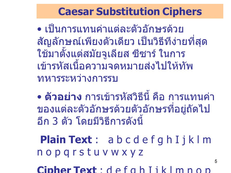 Caesar Substitution Ciphers