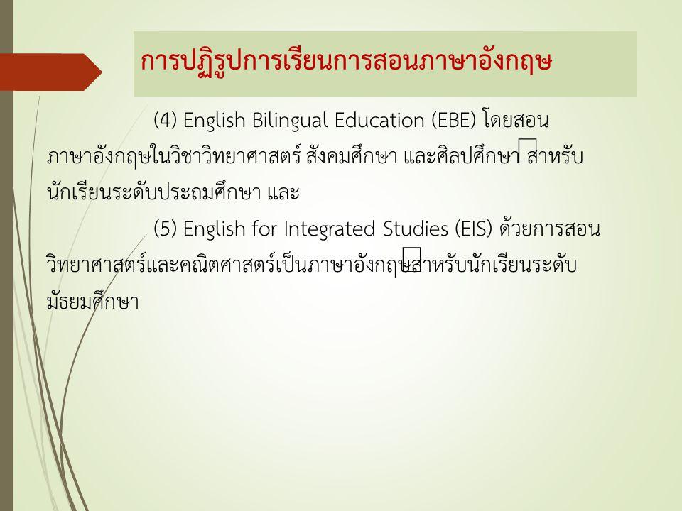 การปฏิรูปการเรียนการสอนภาษาอังกฤษ