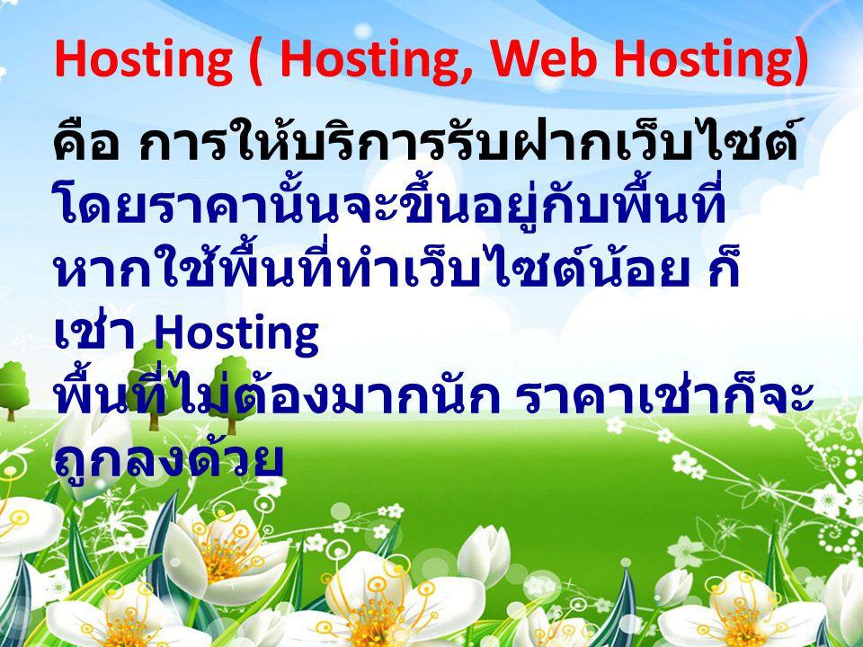 Hosting ( Hosting, Web Hosting)
