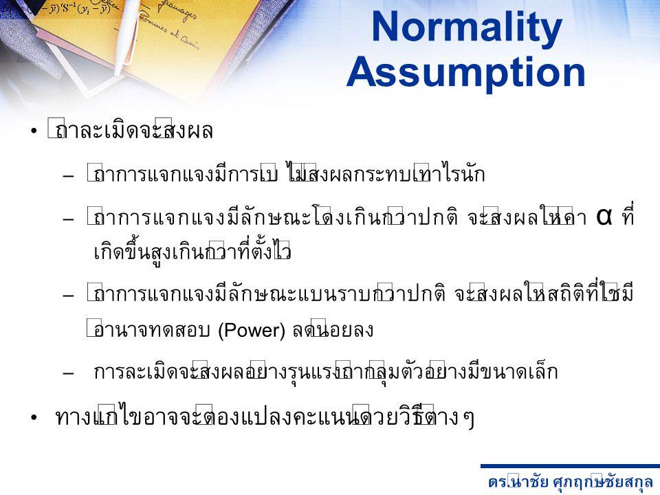 Normality Assumption ถ้าละเมิดจะส่งผล