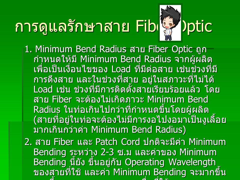 การดูแลรักษาสาย Fiber Optic