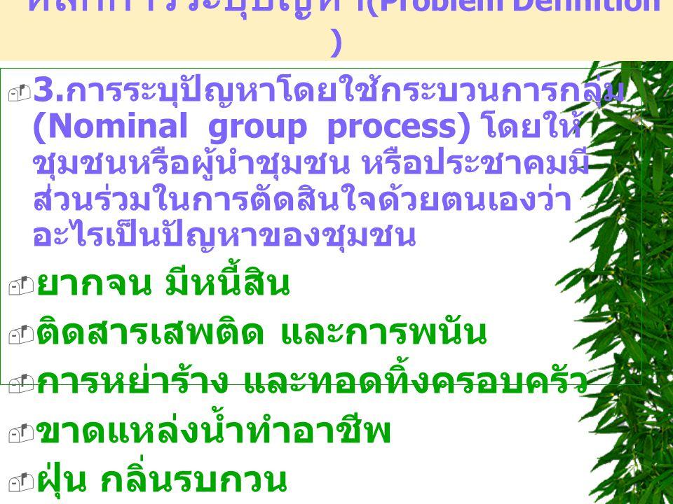 หลักการระบุปัญหา(Problem Definition )