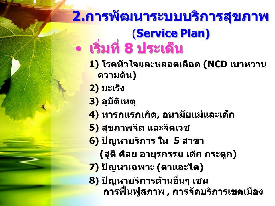 2.การพัฒนาระบบบริการสุขภาพ (Service Plan)