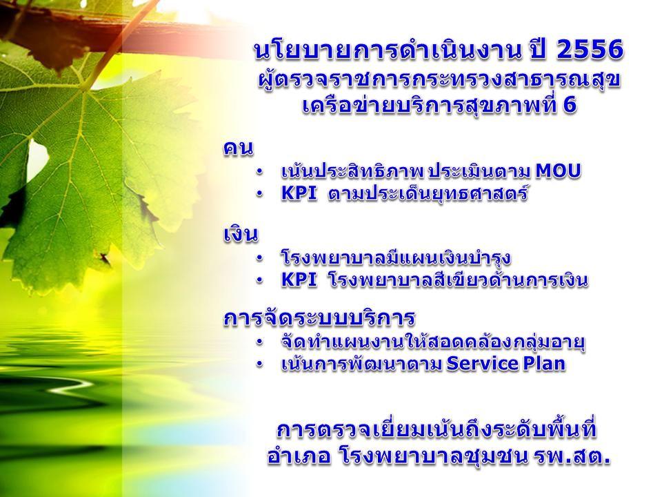 นโยบายการดำเนินงาน ปี 2556