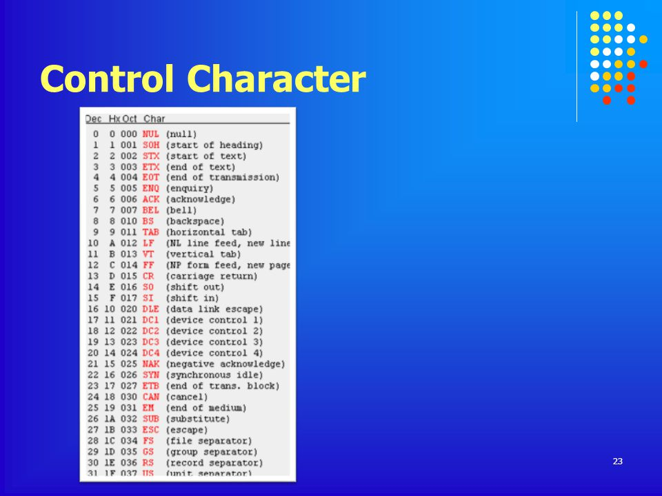 Control Character