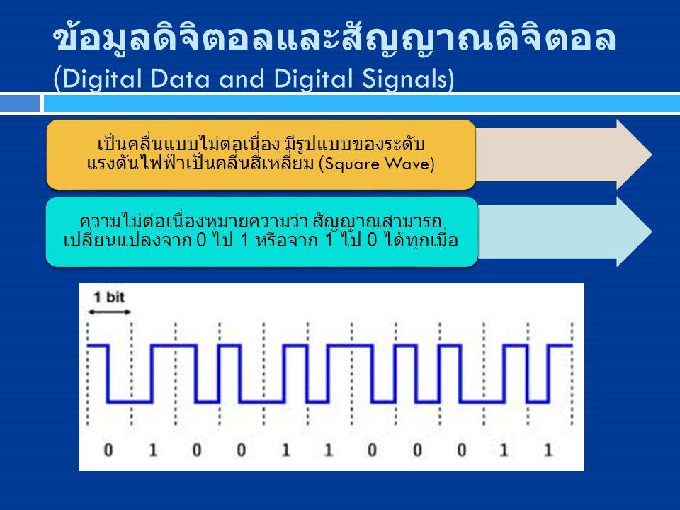 ข้อมูลดิจิตอลและสัญญาณดิจิตอล (Digital Data and Digital Signals)