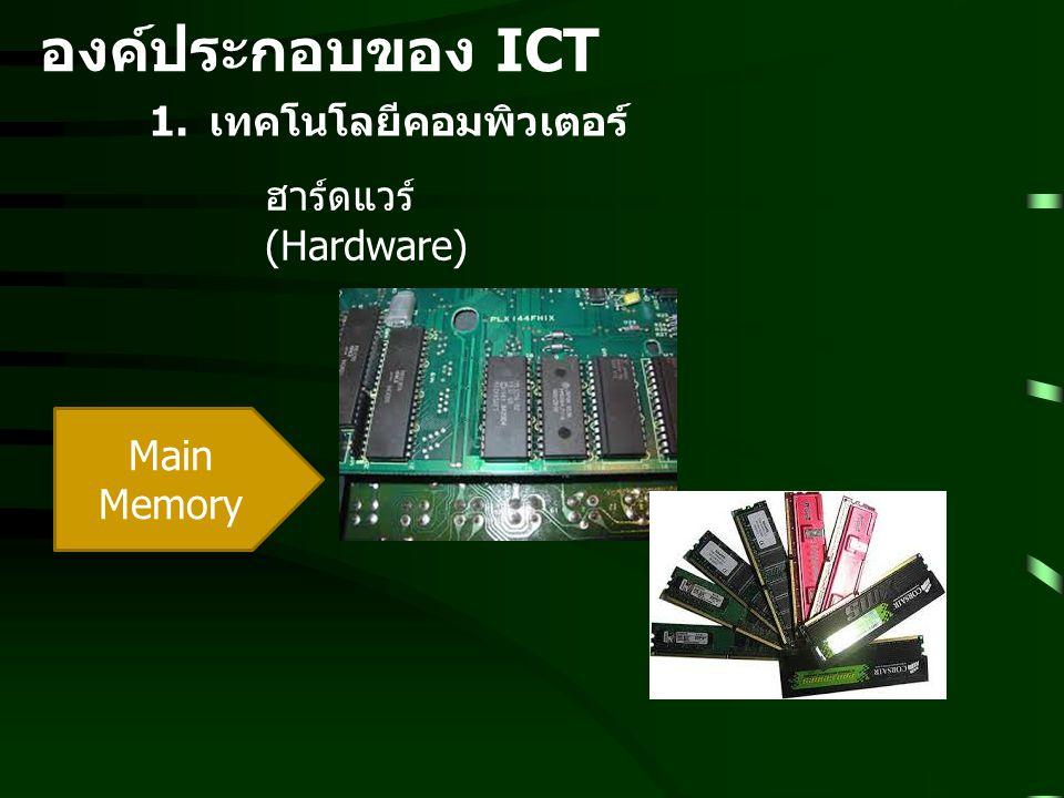 องค์ประกอบของ ICT เทคโนโลยีคอมพิวเตอร์ ฮาร์ดแวร์ (Hardware)