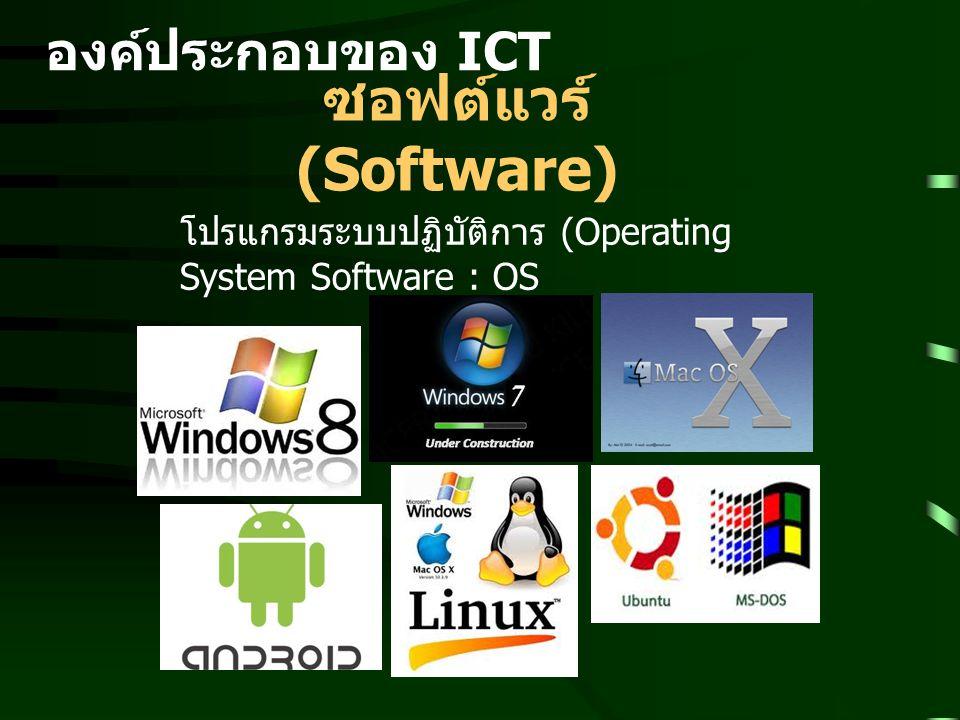 ซอฟต์แวร์ (Software) องค์ประกอบของ ICT