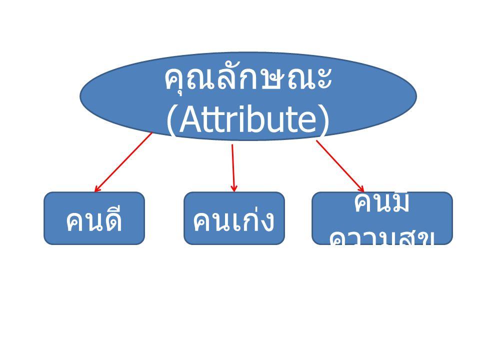 คุณลักษณะ (Attribute)