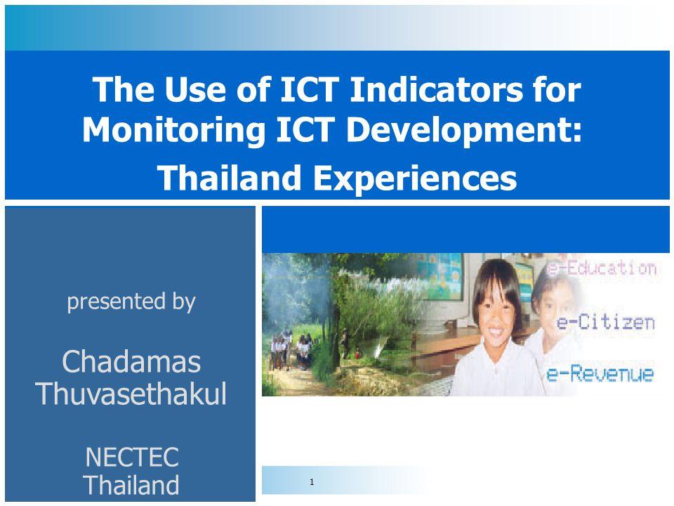 presented by Chadamas Thuvasethakul NECTEC Thailand