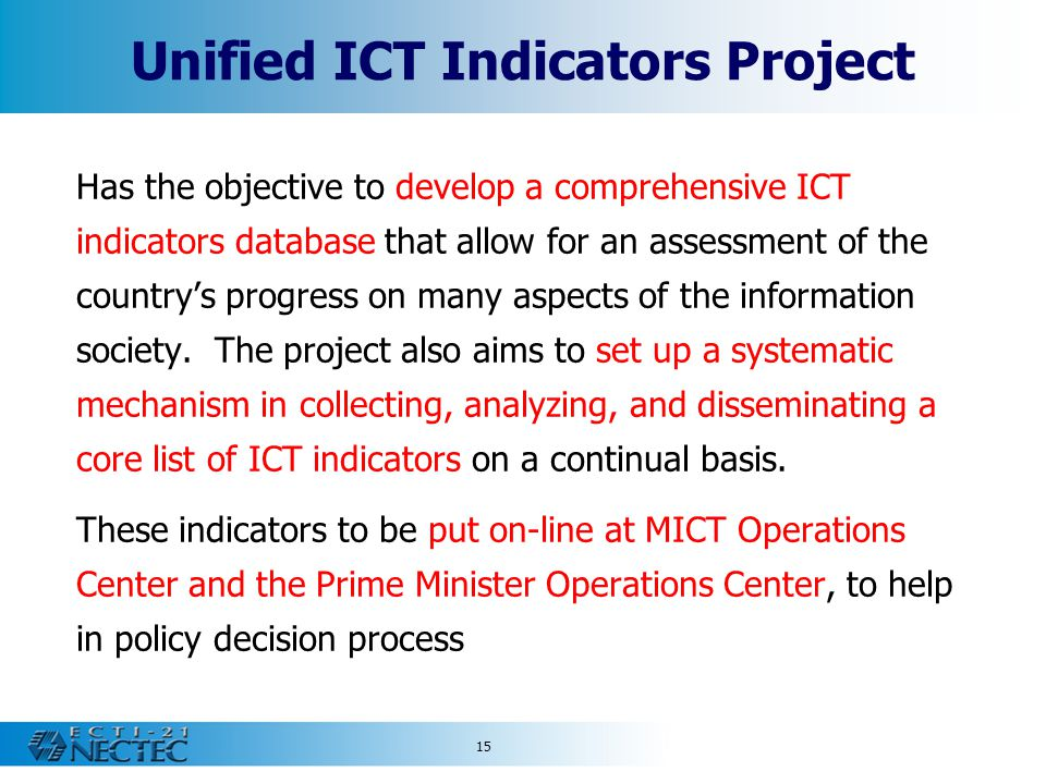 Unified ICT Indicators Project