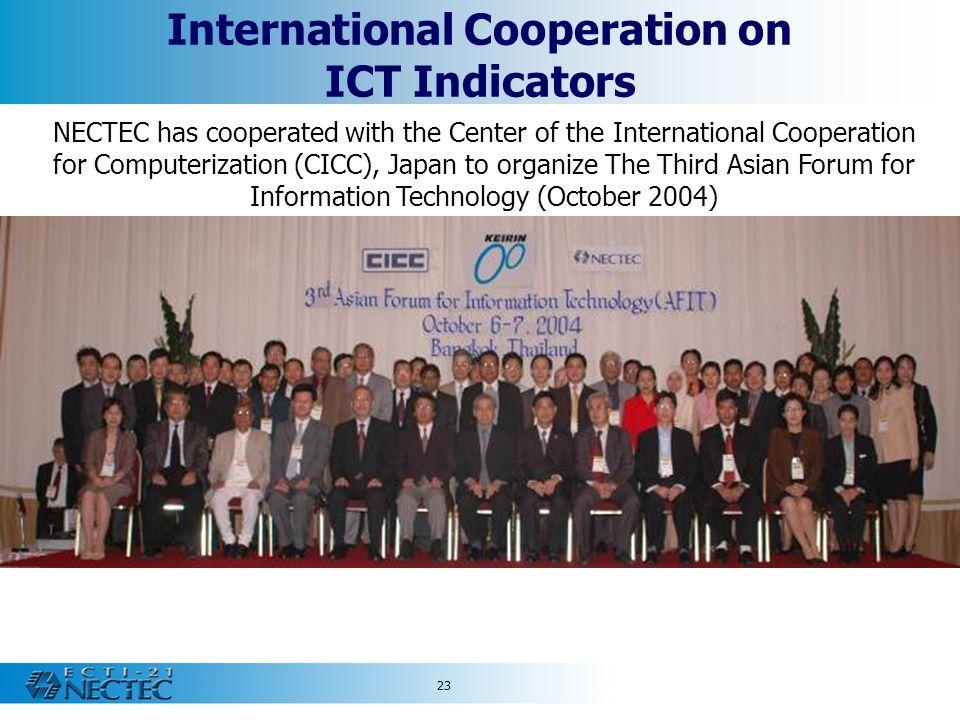 International Cooperation on ICT Indicators
