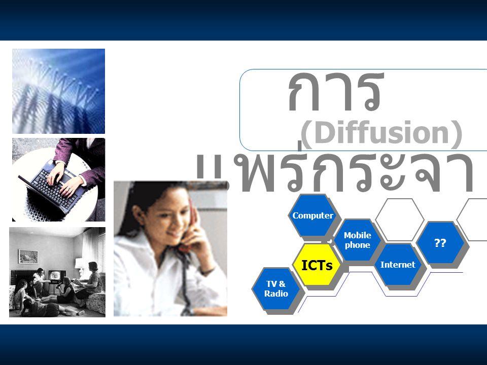 การแพร่กระจาย (Diffusion) ICTs