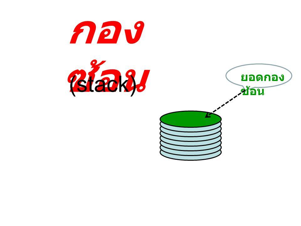 กองซ้อน ยอดกองซ้อน (stack)