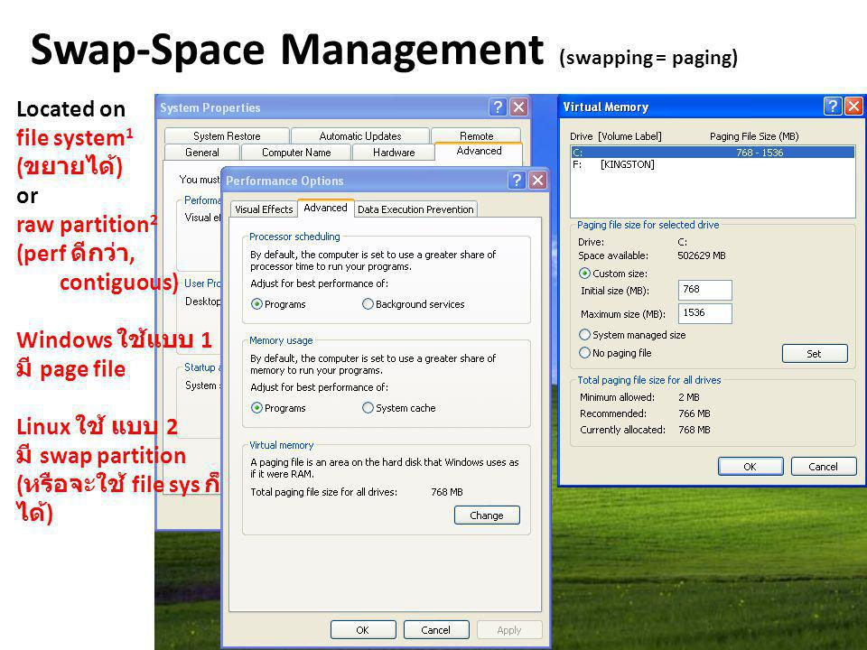 Swap-Space Management (swapping = paging)