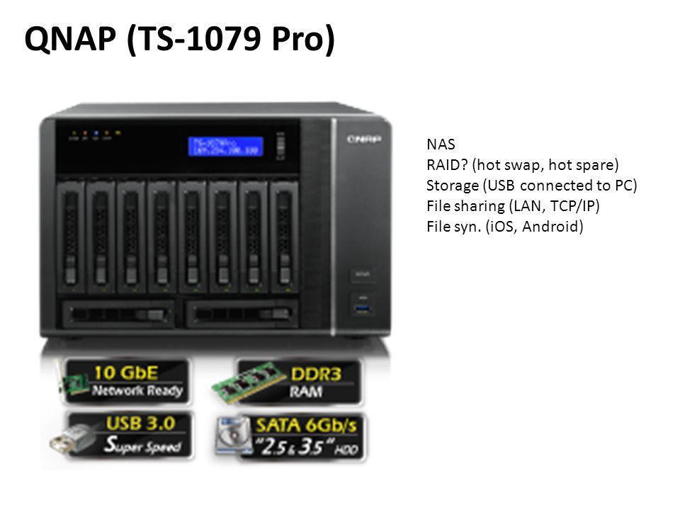 QNAP (TS-1079 Pro) NAS RAID.