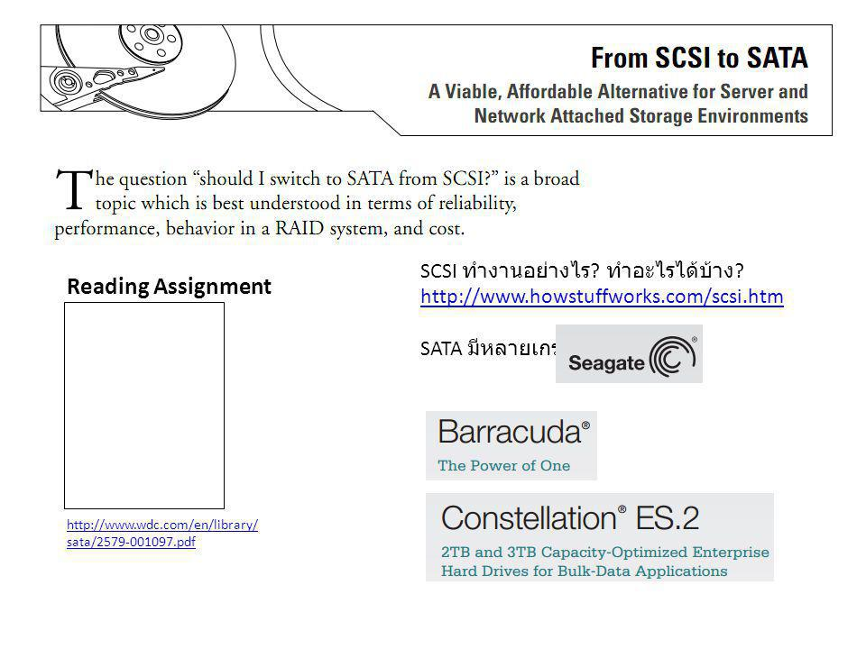 SCSI ทำงานอย่างไร. ทำอะไรได้บ้าง. http://www. howstuffworks. com/scsi