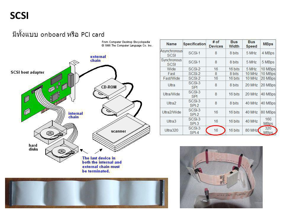 SCSI มีทั้งแบบ onboard หรือ PCI card
