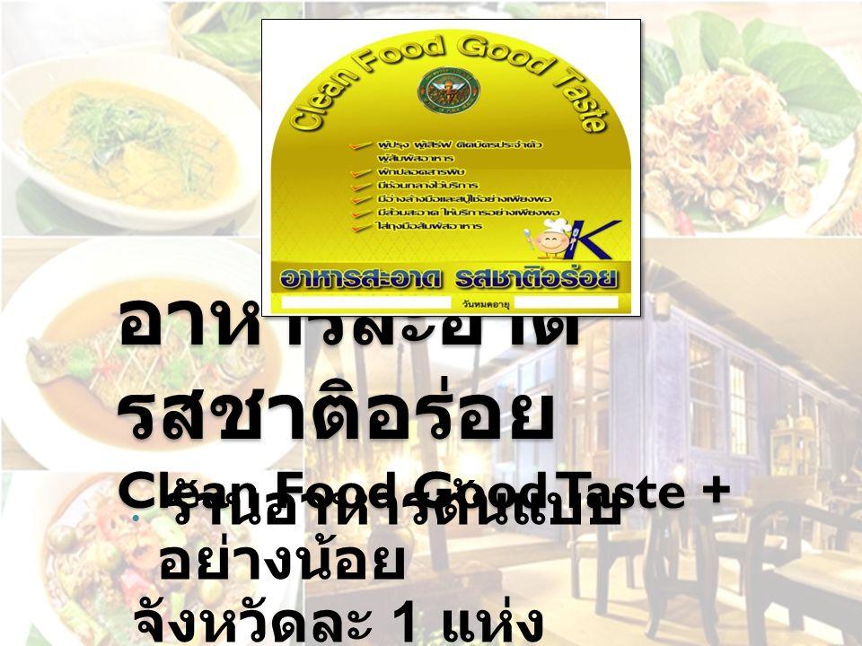 อาหารสะอาดรสชาติอร่อย Clean Food Good Taste +