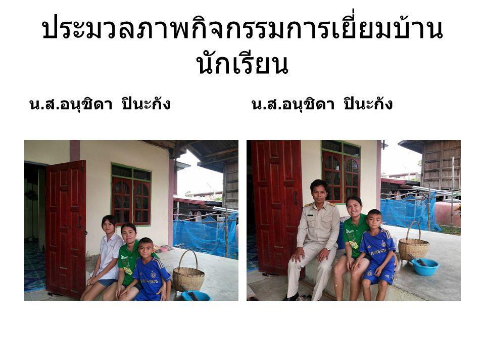 ประมวลภาพกิจกรรมการเยี่ยมบ้านนักเรียน