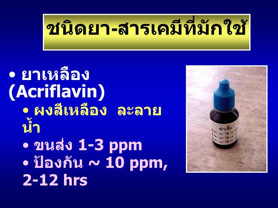 ชนิดยา-สารเคมีที่มักใช้