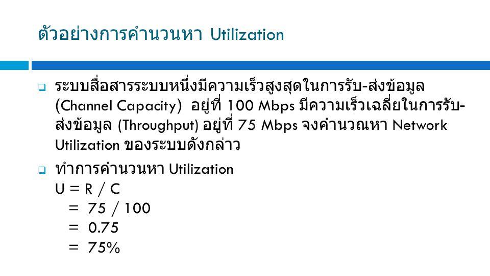 ตัวอย่างการคำนวนหา Utilization