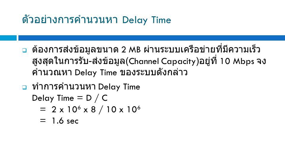 ตัวอย่างการคำนวนหา Delay Time