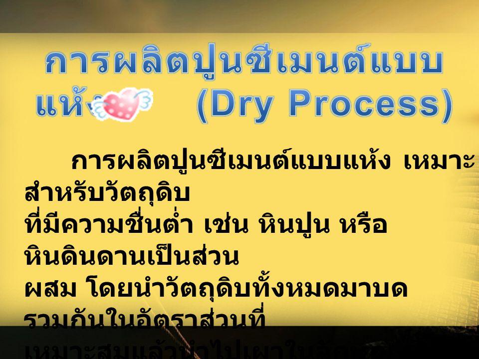 การผลิตปูนซีเมนต์แบบแห้ง (Dry Process)