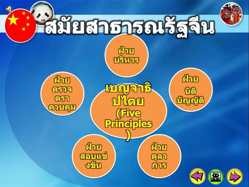 เบญจาธิปไตย(Five Principles)