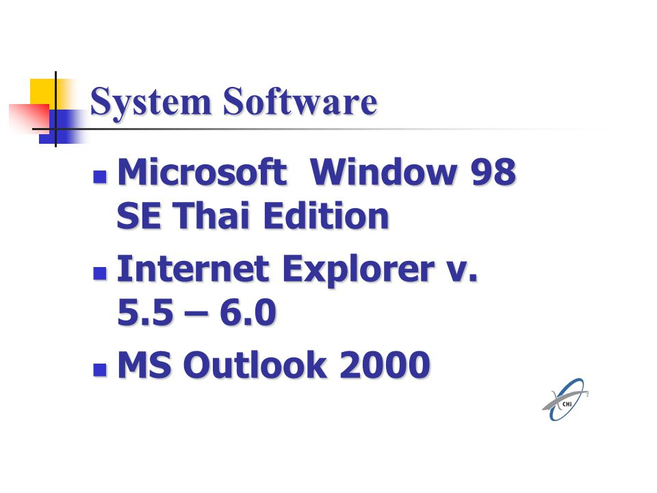 System Software Microsoft Window 98 SE Thai Edition