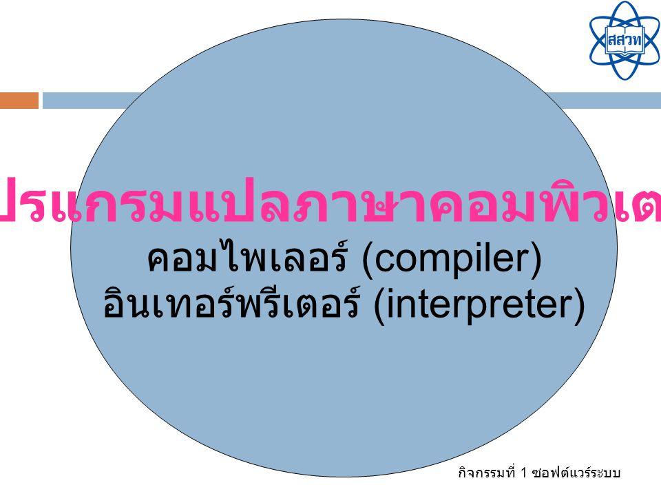 โปรแกรมแปลภาษาคอมพิวเตอร์