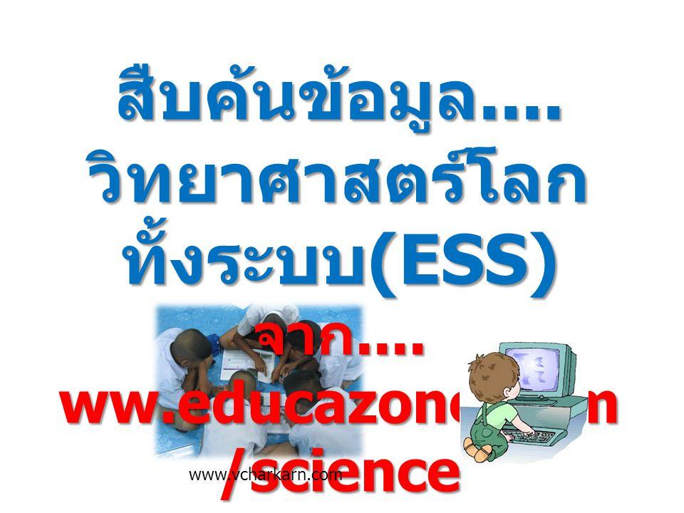 วิทยาศาสตร์โลกทั้งระบบ(ESS) จาก.... ww.educazone.com/science