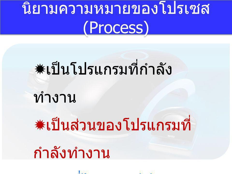 นิยามความหมายของโปรเซส (Process)