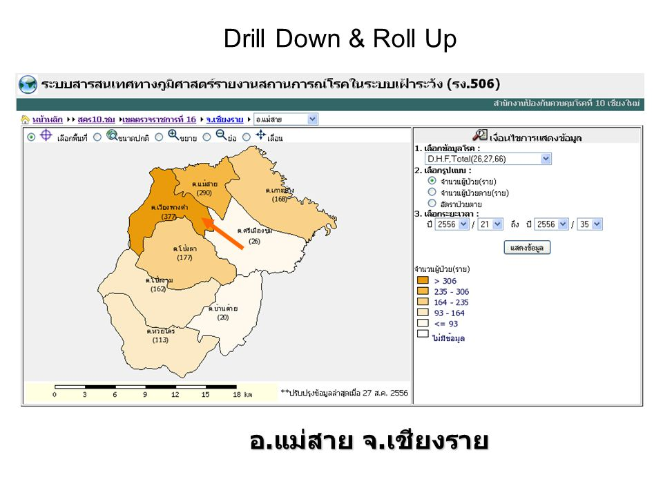 Drill Down & Roll Up อ.แม่สาย จ.เชียงราย