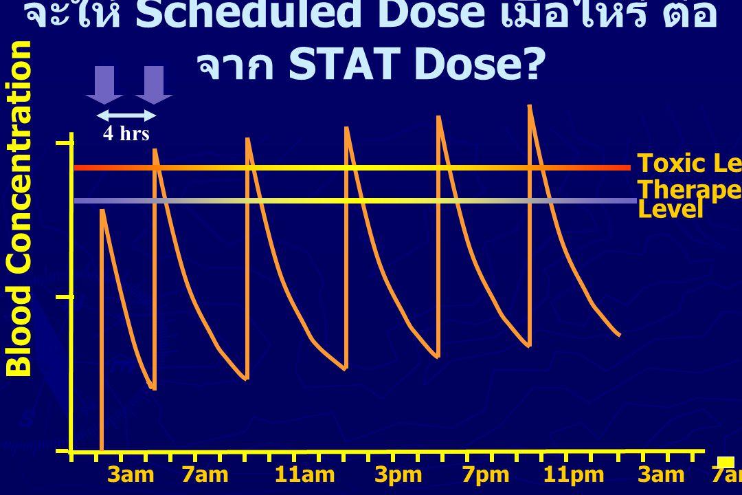 จะให้ Scheduled Dose เมื่อไหร่ ต่อจาก STAT Dose