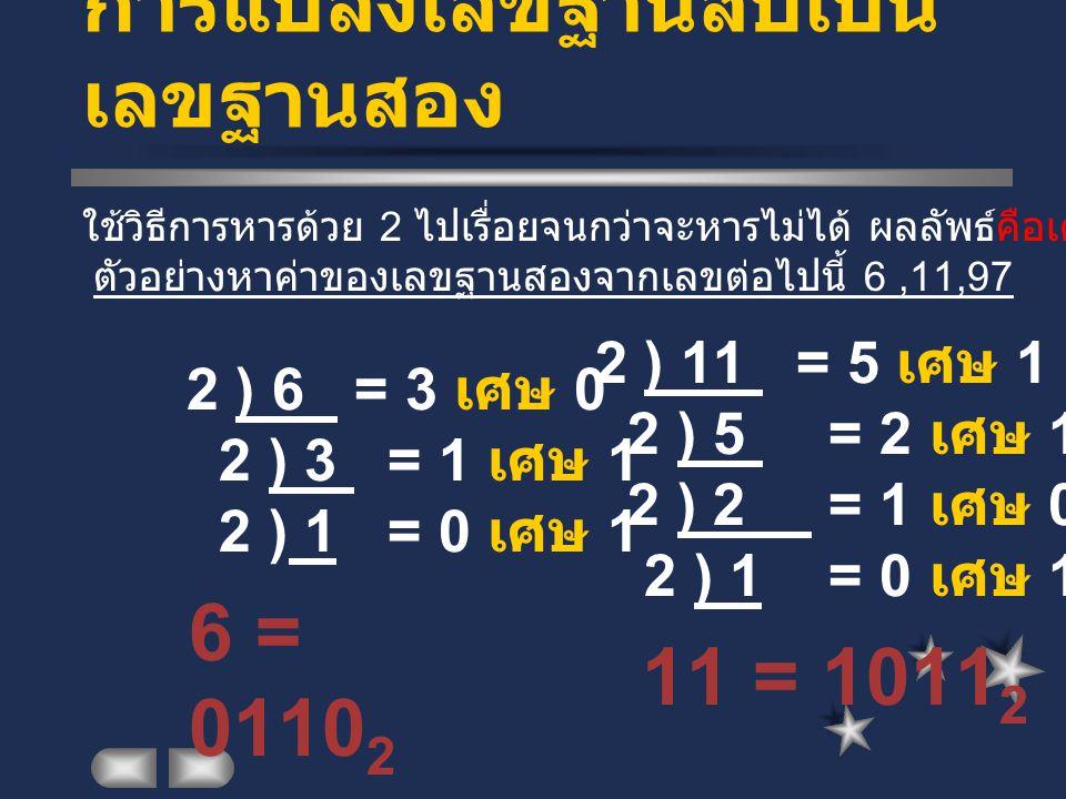 การแปลงเลขฐานสิบเป็นเลขฐานสอง