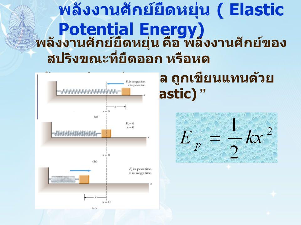 พลังงานศักย์ยืดหยุ่น ( Elastic Potential Energy)