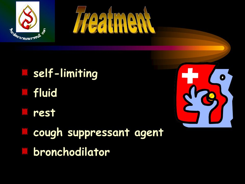 Treatment self-limiting fluid rest cough suppressant agent