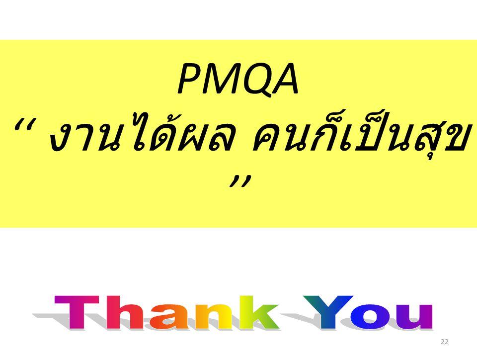 PMQA '' งานได้ผล คนก็เป็นสุข ''