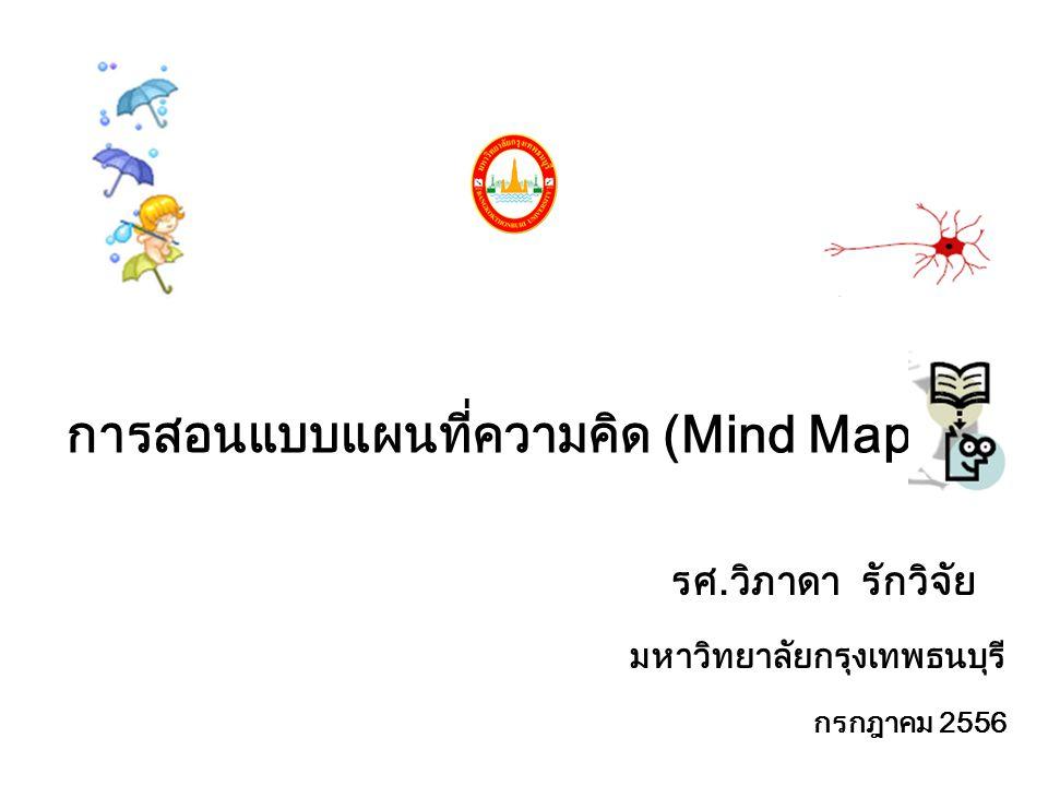 การสอนแบบแผนที่ความคิด (Mind Map)