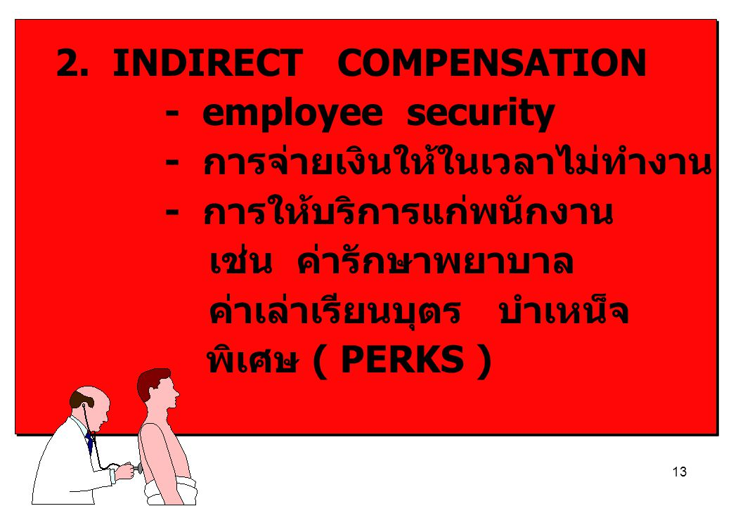 2. INDIRECT COMPENSATION