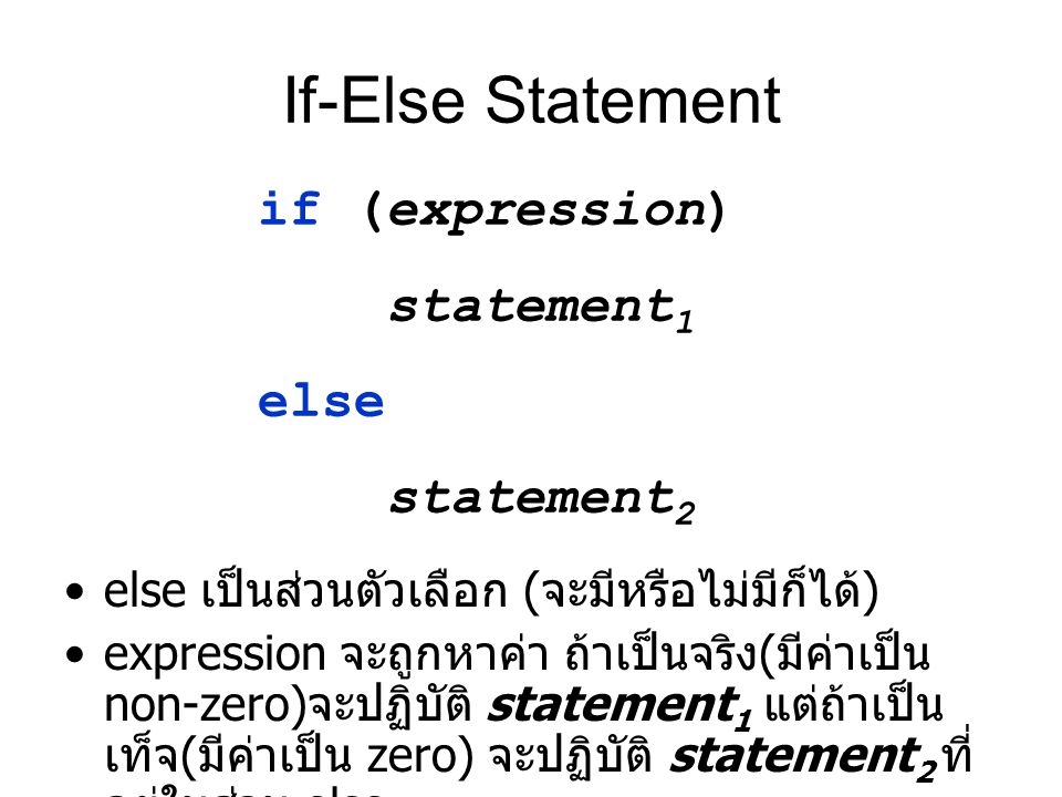 If-Else Statement if (expression) statement1 else statement2