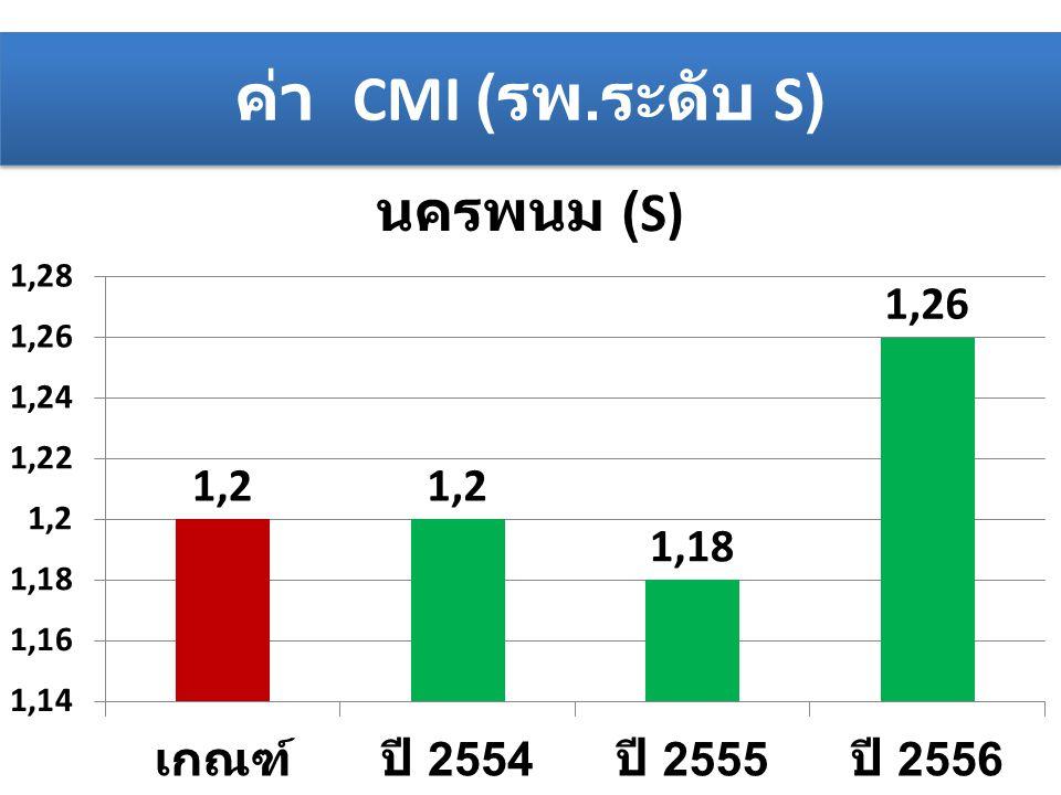 ค่า CMI (รพ.ระดับ S)