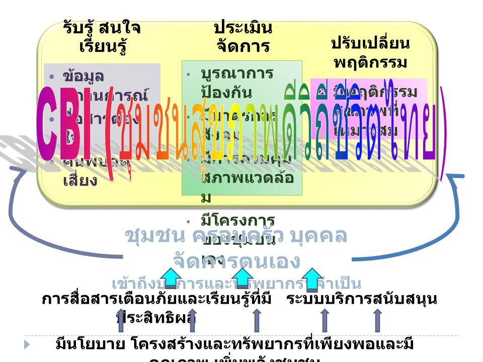 CBI (ชุมชนสุขภาพดีวิถีชีวิตไทย)