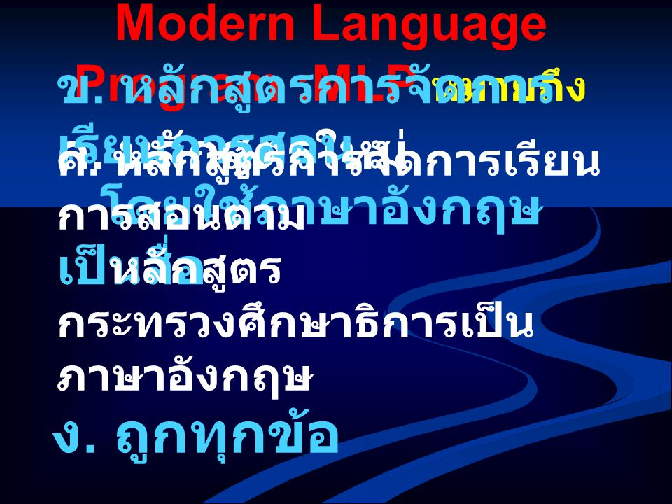 Modern Language Program :MLP หมายถึง