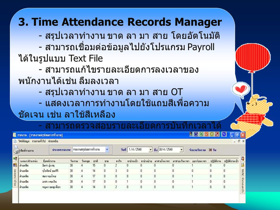 3. Time Attendance Records Manager