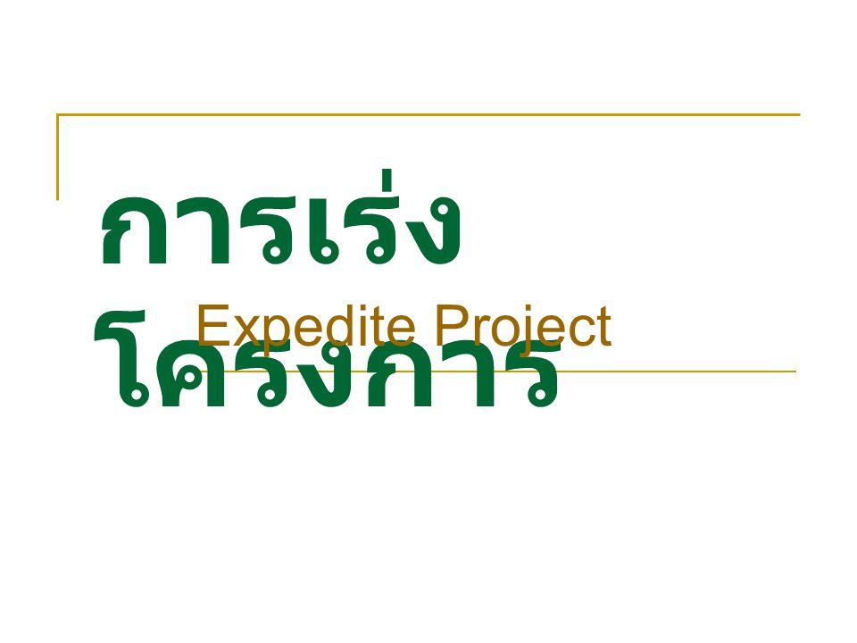 การเร่งโครงการ Expedite Project