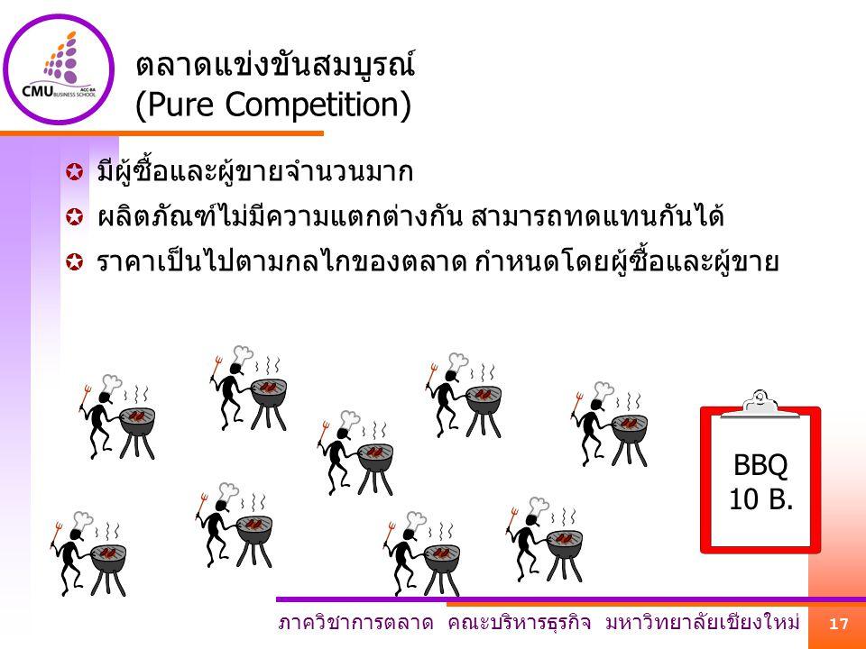 ตลาดแข่งขันสมบูรณ์ (Pure Competition)