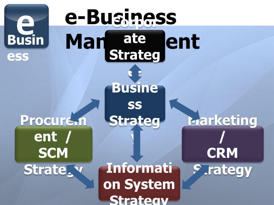 Procurement / SCM Strategy Information System Strategy